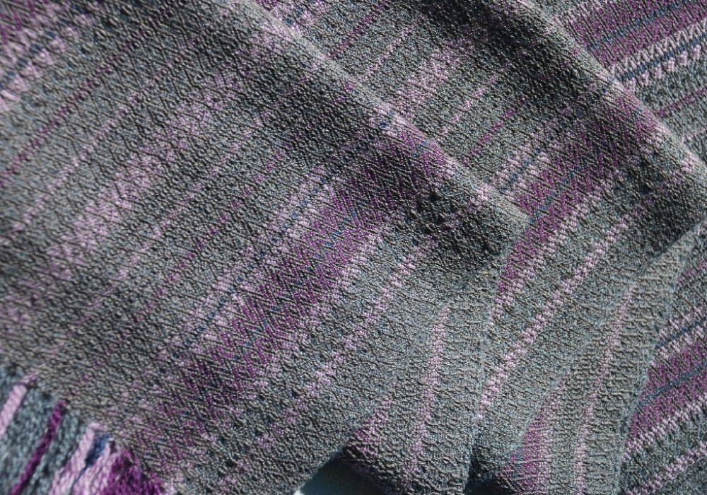 WEAVING PurpleGrayWoolSilkCottonScarf_75